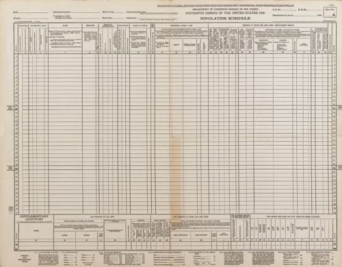 usnatarchives:  Just 3 days left until the release of the 1940 Census! This is an original bl