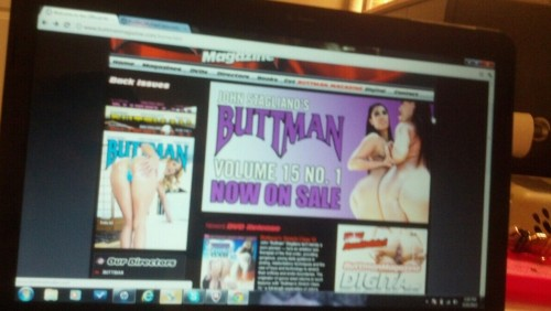 I'm still on the front page of buttman magazine website lol