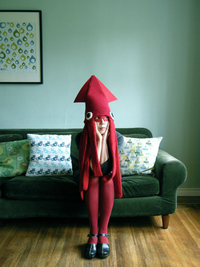 laughingsquid:  Squid Hat Costume by Hiné Mizushima