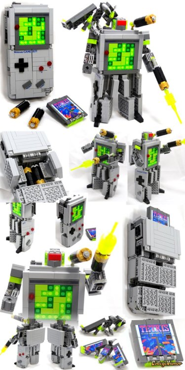 Tetris Gameboy Transformer made of LEGO.   Oh, look, it's my childhood condensed into a single object.