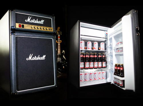 Marshall Amp Fridge Looking for a cool fridge that's something a bit different? Check out this Marshall guitar amp costing $300 BUY HERE FROM marshallfridge.com