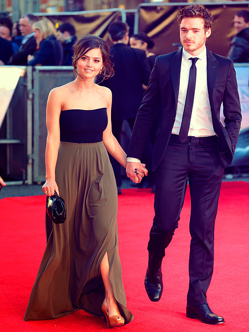 my-jenna-louise-coleman:  Jenna-Louise and Richard Madden @ The 'Titanic 3D' film premiere at the Royal Albert Hall in London 27.3.12