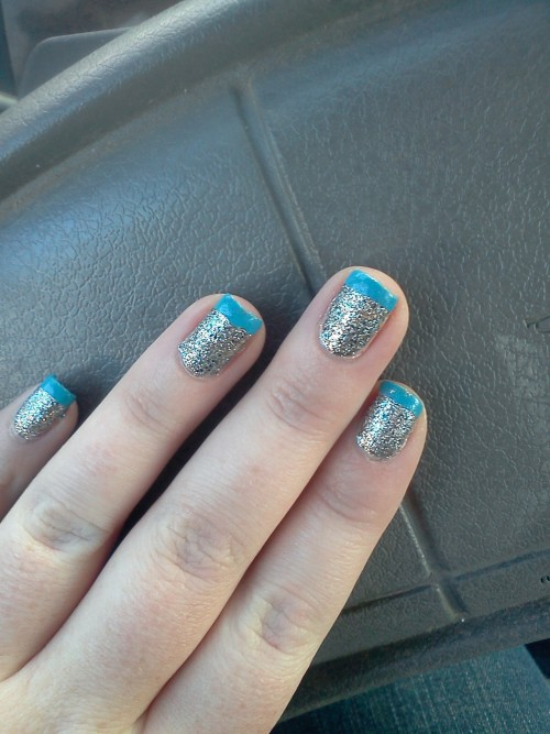 whydoihaveablog:  The more obnoxious my nails, the more secure I am in my public shyness.  Caragh's nails are always amazing you guys! She does them herself too! If I tried to do this to my nails it would look like I had Michael J. Fox give me a manicure!
