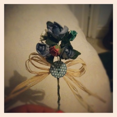 Handmade boutonnière! #boutonnière #wedding (Taken with instagram)
