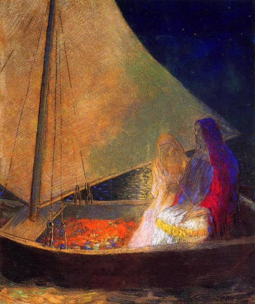 """Lovers""       "" Boat with Two Figures  (1902) "" by Odilon RedonThanks to And-any-army for posting this peaceful image."