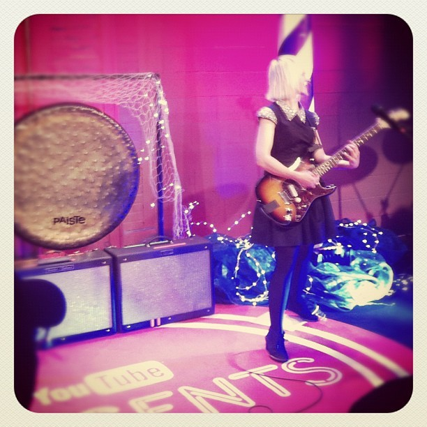 At YouTube watching @joyformidable with @atlanticrecords (Taken with instagram)