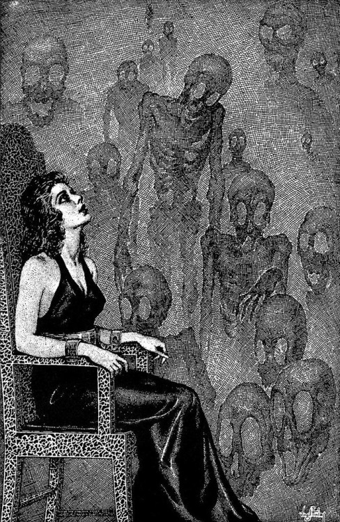 Illustration by Virgil Finlay c. 1942