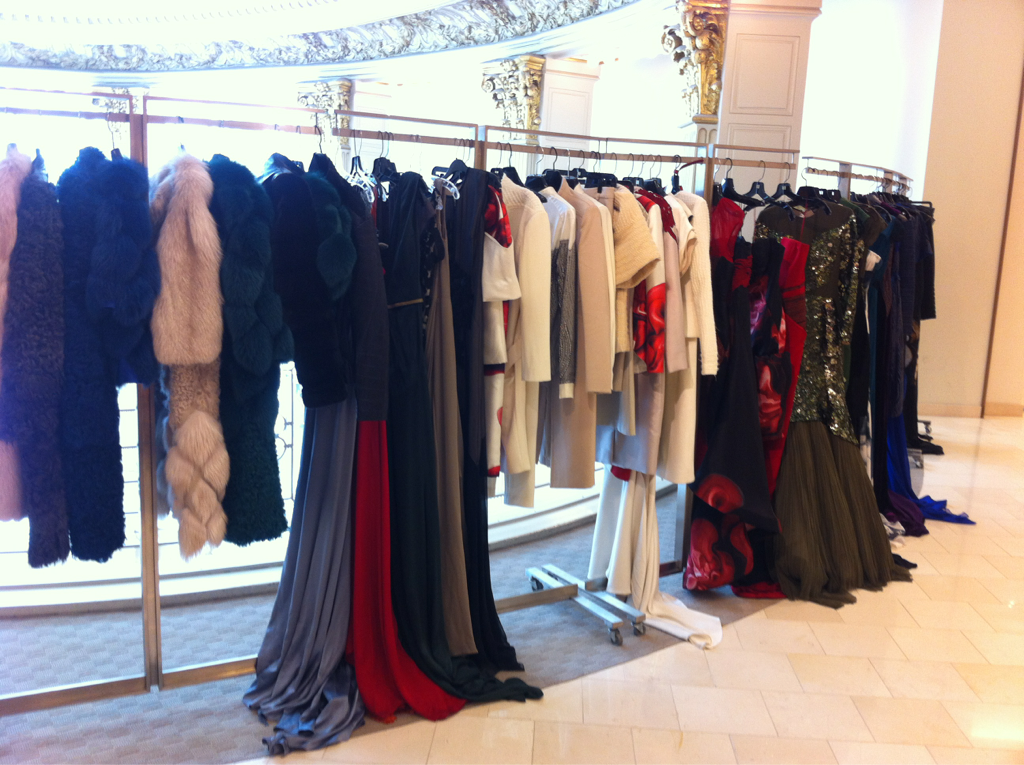 Fall Collection at San Francisco Neiman Marcus, Couture Salon today and tomorrow.