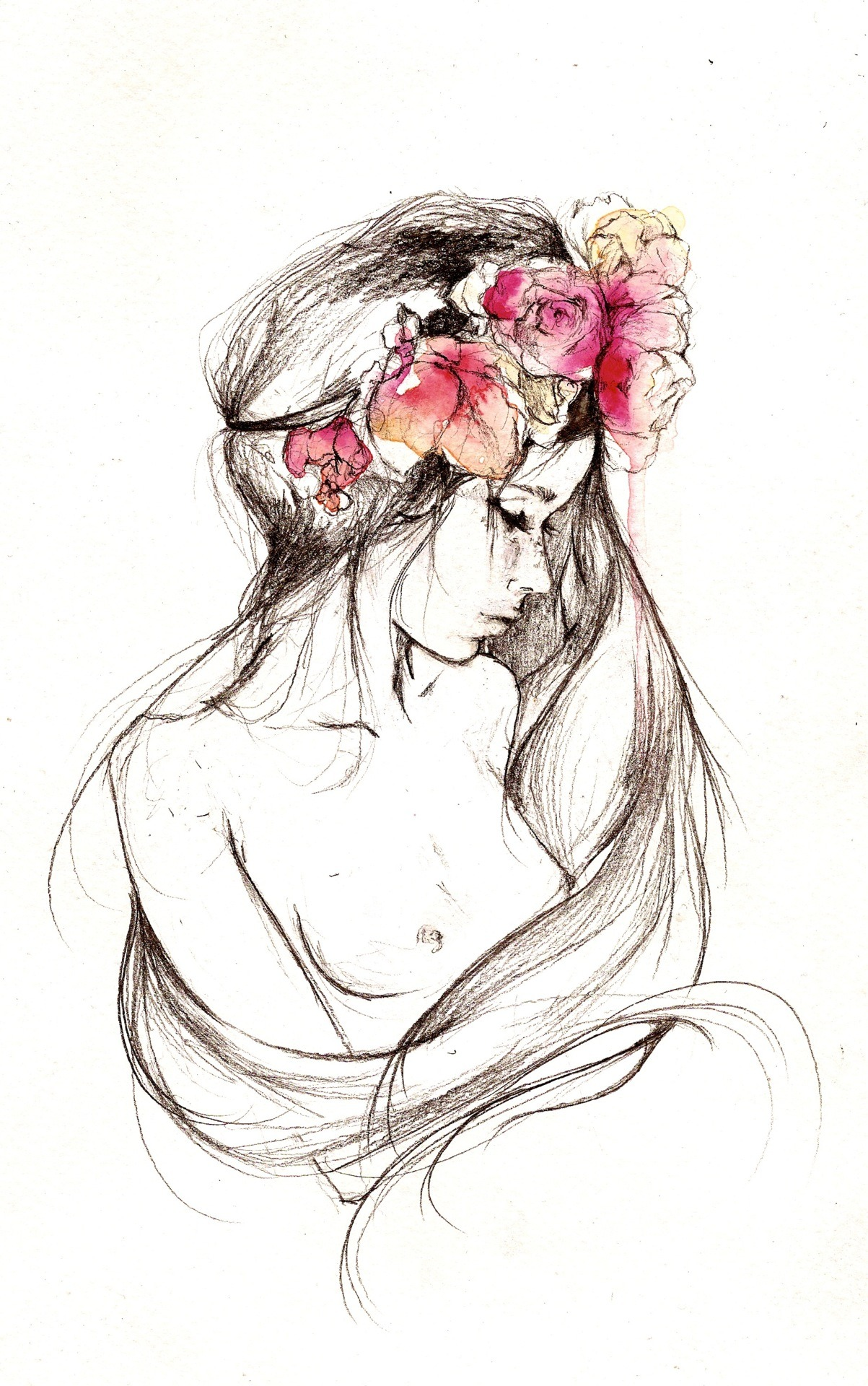 flower crown illustration by Dessie Jackson see more HERE