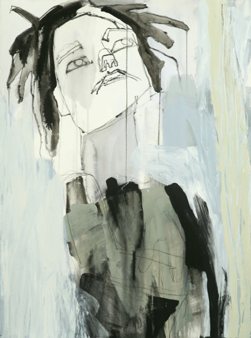 Jessica Liggero: Mixed media self-portraits on paper