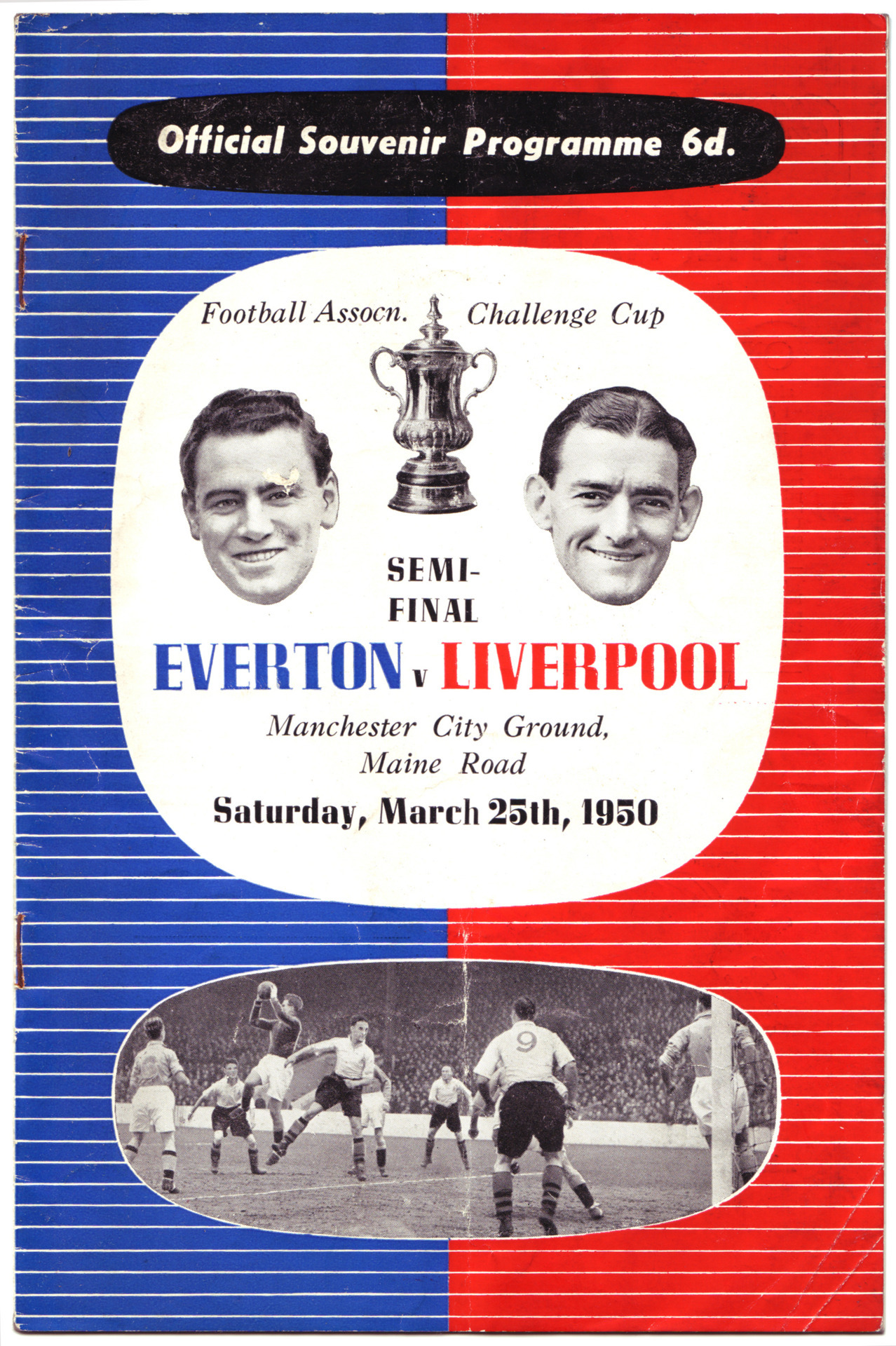 March 25 1950: The official programme from the FA Cup semi-final at Maine Road between Liverpool and Everton.Click here to buy this print from the official Liverpool FC Picture Store