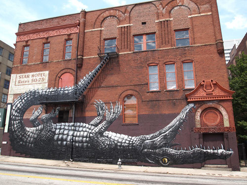Street painting by ROA
