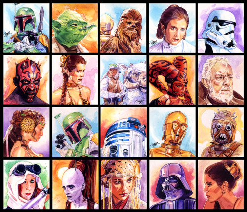 geekpride:  Star Wars Portrait Series by Robert Hendrickson