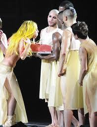 Gaga blowing the candels