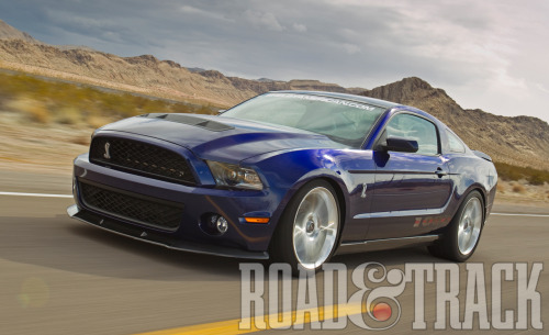 The 2012 Shelby 1000 is a 200-mph, 1000-bhp Mustang created by Shelby American. (Source: Road & Track)