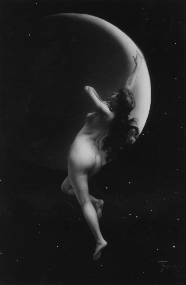 Goodnight everyone… Luis Ricardo Falero, The Moon Nymph (1883)