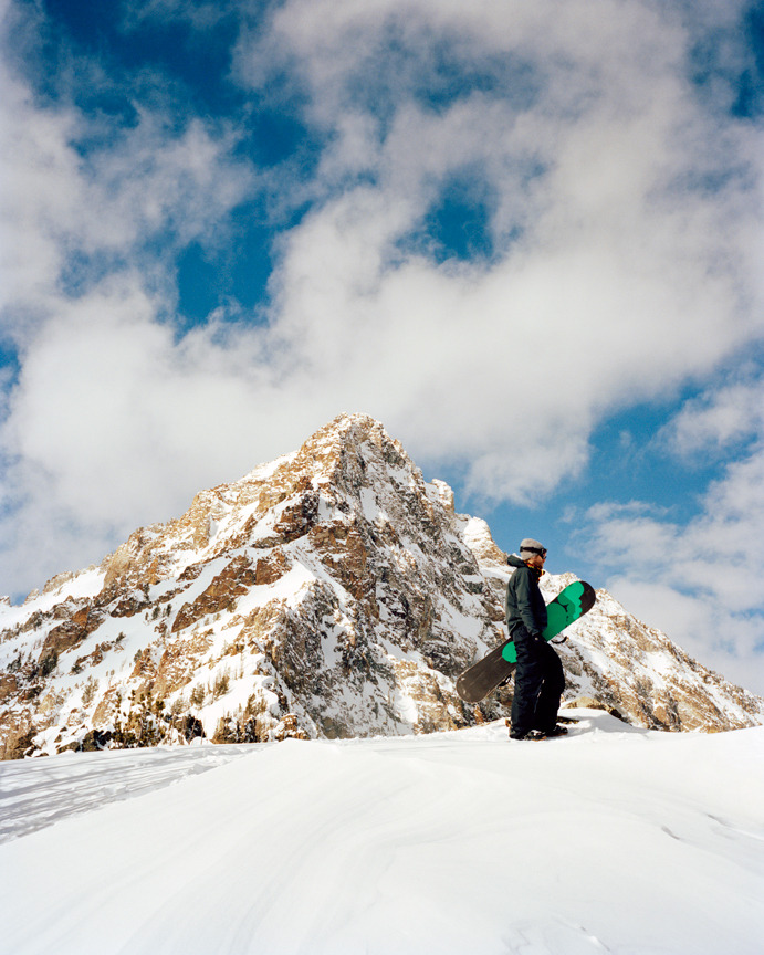 Drewsky on the hunt for POW. Sawtooth Backcountry, Idaho.