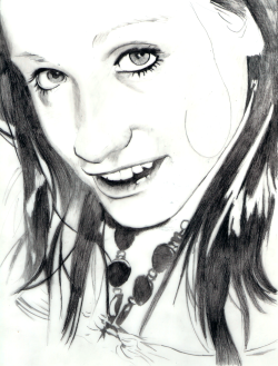 amanda farmer 9x12 pencil on mylar. while this actual person i slightly pale, in comparison, with this drawing im mostly happy with the proportions but due to this being one of my first couple attempts at working with mylar the shading is just none existent. perhaps i will try again.