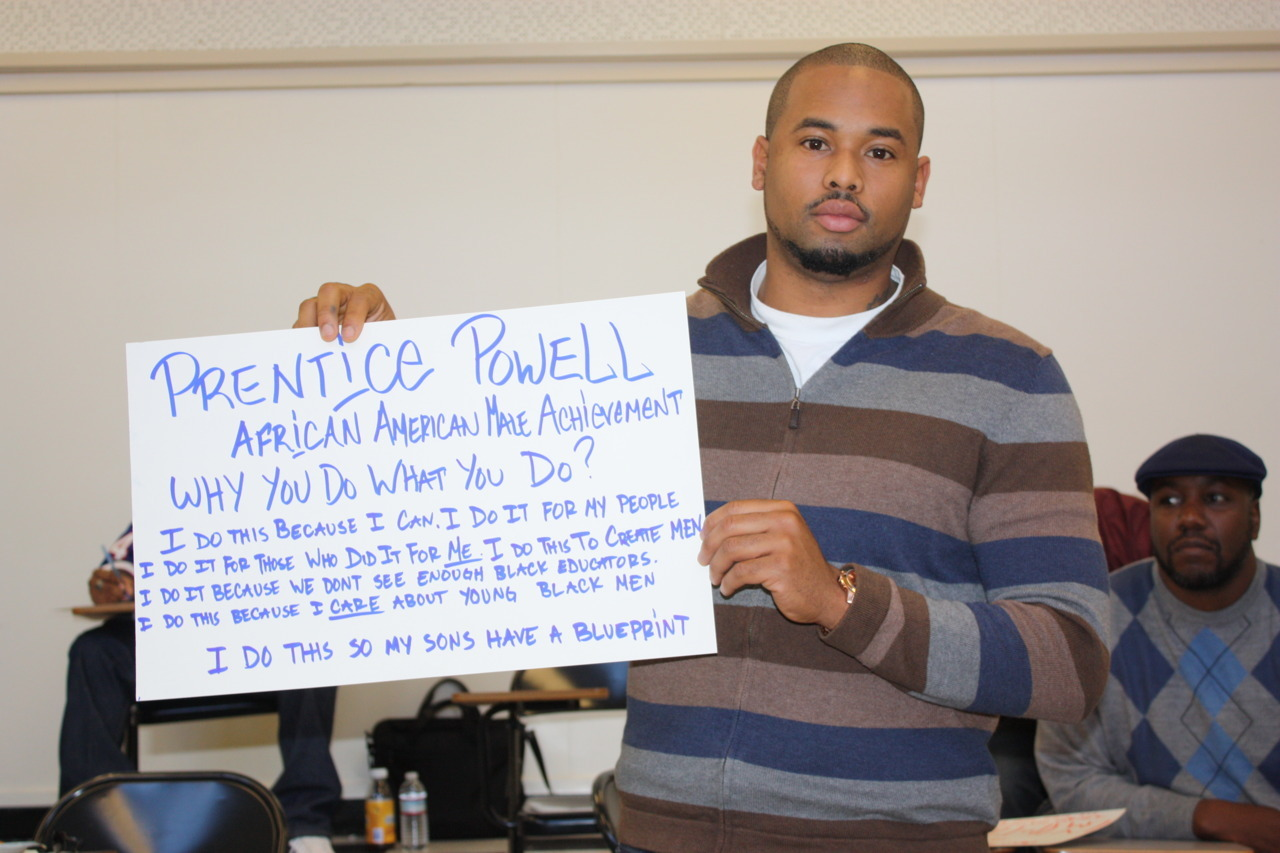 Bro Prentice Powell,Teacher, Manhood Development Program, Castlemont HS, , African American Male Achievement, Oakland Unified School District