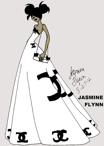 Designer Dress. a traditional/digital drawing by me, Jasmine Flynn :)