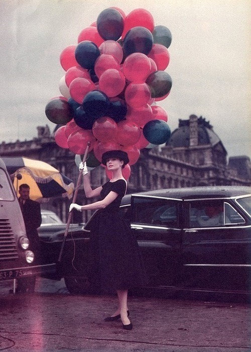 theniftyfifties:  Audrey Hepburn for 'Funny Face', 1957.