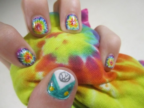 ~hippie-licious~VW split color van and tie-dye