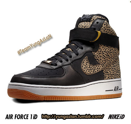 Safari Printed Air Force Ones, DOPE!! - #TeamYungAzLaN