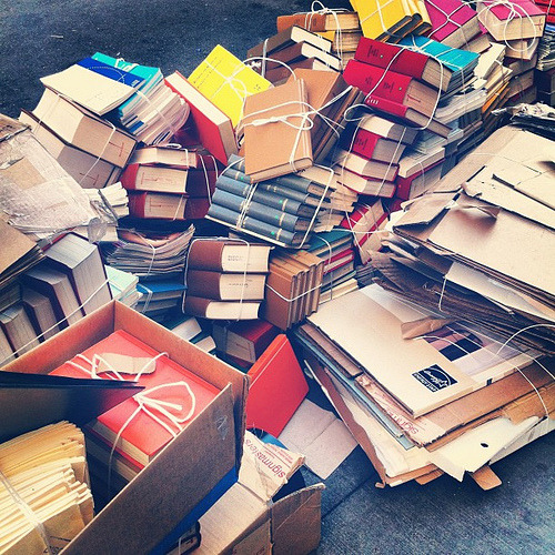 Pile o' books. (by laurenfarmer)