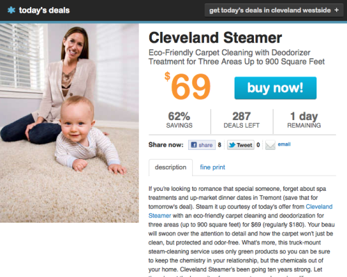 Best LivingSocial deal ever: Cleveland Steamer for just $69 Normally, you get charged extra for that kind of thing. Via