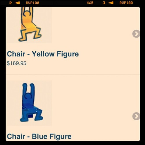 I need one of these chairs, Keith Haring swag (Taken with instagram)