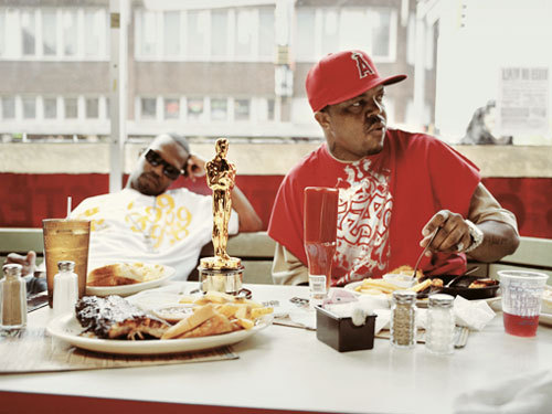 Photograph (2006) Three 6 Mafia + Oscar (Part 2) Click here to view more of Three 6 Mafia with their Oscar. Photo Source: Respect-Mag.com + Vibe.com + ZachWolfe.com