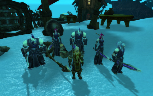 My pally has a posse.