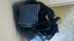 3/27/12 - Hefty bag of jeans.