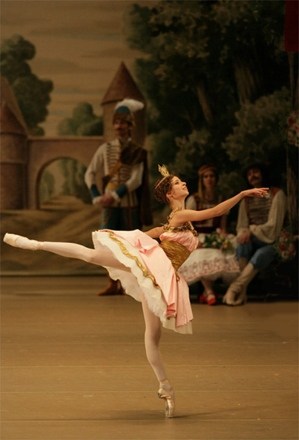 thedailyballet:  Anna Okuneva as Dawn in Coppélia. Photo (c) Damir Yusupov/Bolshoi Theatre.