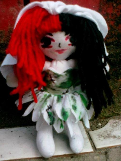 Ash Costello of New Years Day: Zombie Bride doll [click for credit]