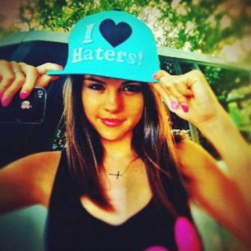 selenasblessing:  Haters, Sel loves you!  (Taken with instagram)