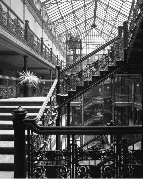 wandrlust:  Bradbury Building, George Wyman, Los Angeles, California, 1893 — Julius Shulman