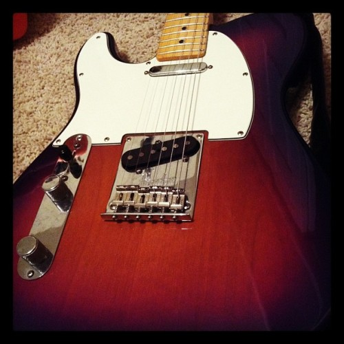 American Standard Telecaster - Lefty (Taken with instagram)