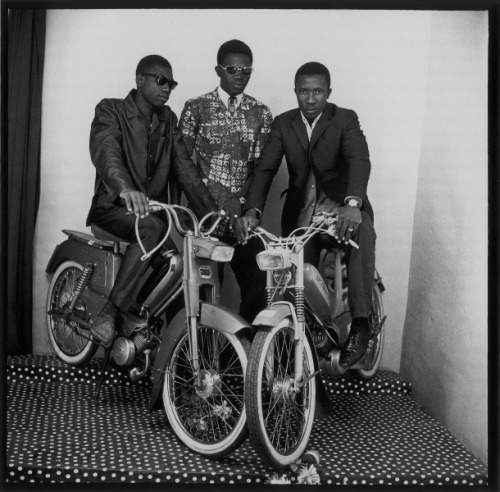 Photo of Malian motorbike Mods in the 1960s by Malick Sidibé. Cool. Via inacrystalmess