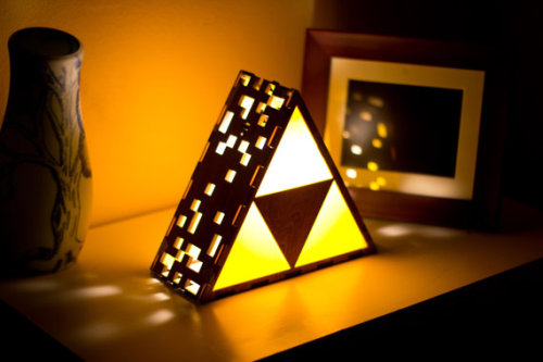 This little Triforce of mine, I'm gonna let it shine. Triforce Lamp by The Back Pack Shoppe