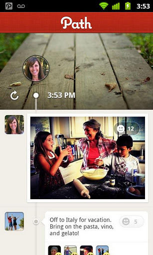 I am thinking whether Facebook copied their timeline design from path or path copied its design from fb??