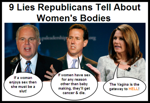 Click this to read 9 lies the Republicans have perpetrated to further their War on Women.