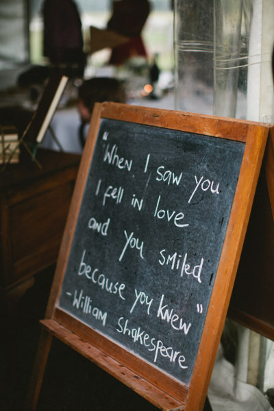 "fuckyeahweddingideas:  ""When I saw you I fell in love and you smiled because you knew."" - William Shakespeare"