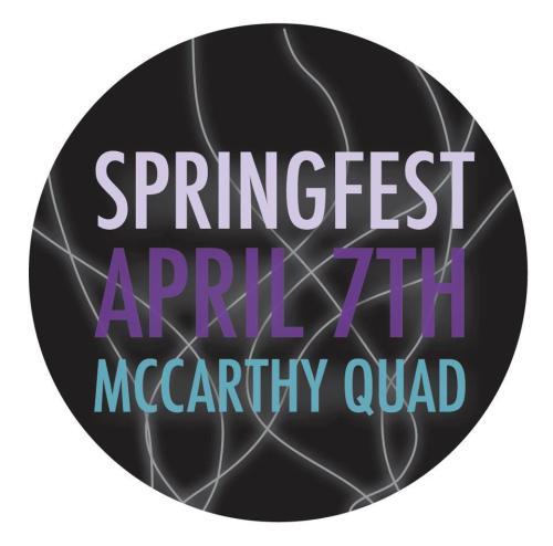 USC SPRINGFEST APRIL 7, 2012 CLICK HERE Change your profile picture or post this photo to let people know they can follow USC Concerts Committee and be the first to know the Springfest lineup! Get excited it is going to be amazing.https://www.facebook.com/uscconcertshttps://www.facebook.com/uscconcertshttps://www.facebook.com/uscconcerts