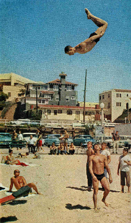 Muscle Beach in Santa Monica, 1962.