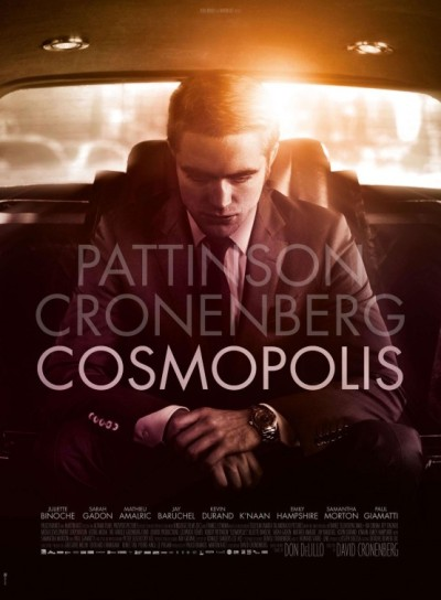 "David Cronenberg's new movie ""Cosmopolis"" with new poster."