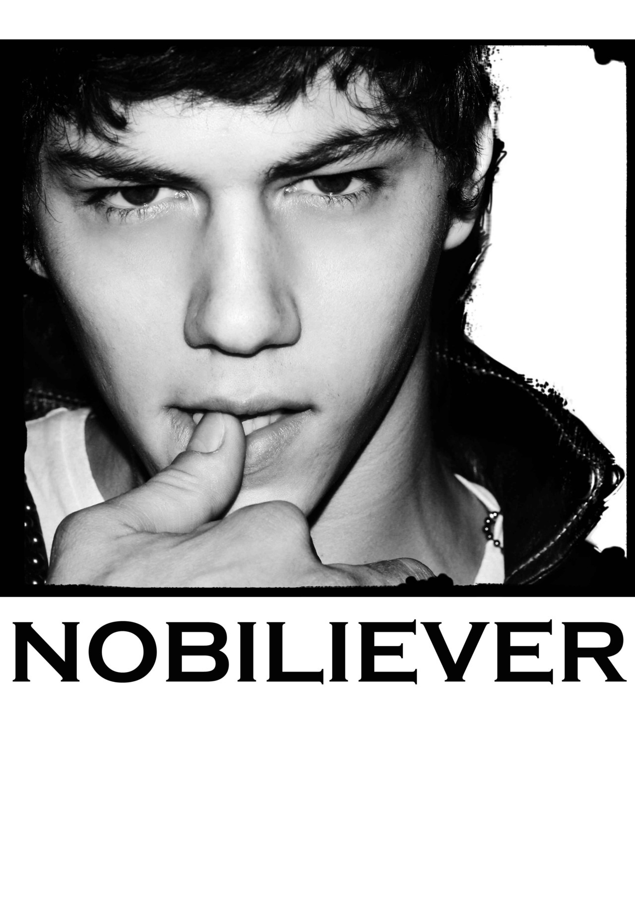 we're working on a semi-delirious Simone Nobili fanclub concept, the fans will be called NOBILIEVERS, and here's a draft for our first t-shirt ( we're such silly teens sometimes)