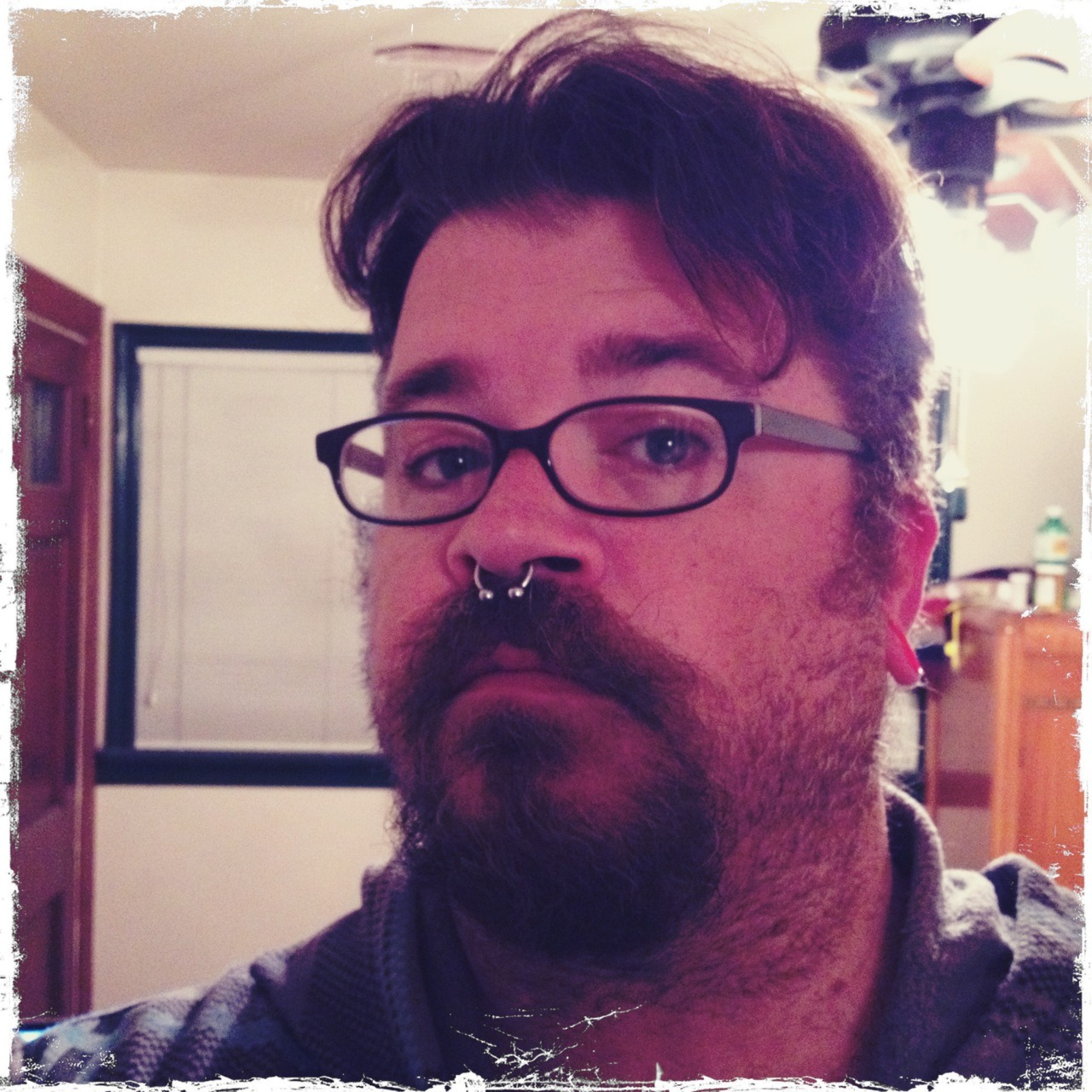 Testing out hipstamatic's new posting functions. Also having a good hair day! #gpoy Helga Viking Lens, Kodot XGrizzled Film, No Flash, Taken with Hipstamatic