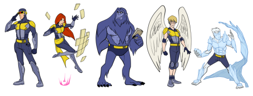 Here's my X-Men redesign lineup, you can find the individual ones all on my Deviant Art page.