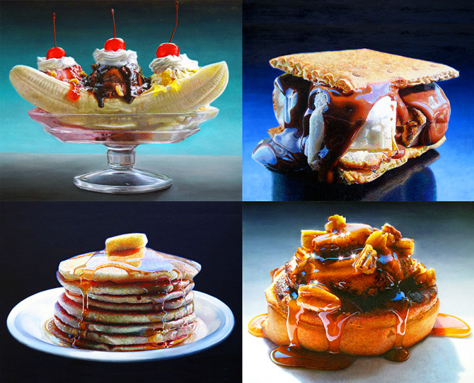 pantherclub:  Hyper realistic food paintings by Mary Ellen Johnson